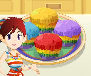بازی آنلاین فلش شیرینی پزی کلوچه های رنگین کمان - دخترانه