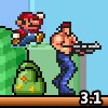 بازی آنلاین فلش ماریو همه ستارگان - قارچ خور