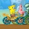 بازی آنلاین فلش باب اسفنجی مسابقات دوچرخه سواری 1