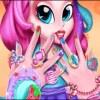 بازی آنلاین فلش طراحی ناخن و لاک زدن ناخن پینکی پای - دخترانه