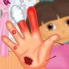 بازی آنلاین دورا پزشکی درمان دست دورا