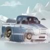 بازی پارک دوبل وانت ماشین در هوای برفی