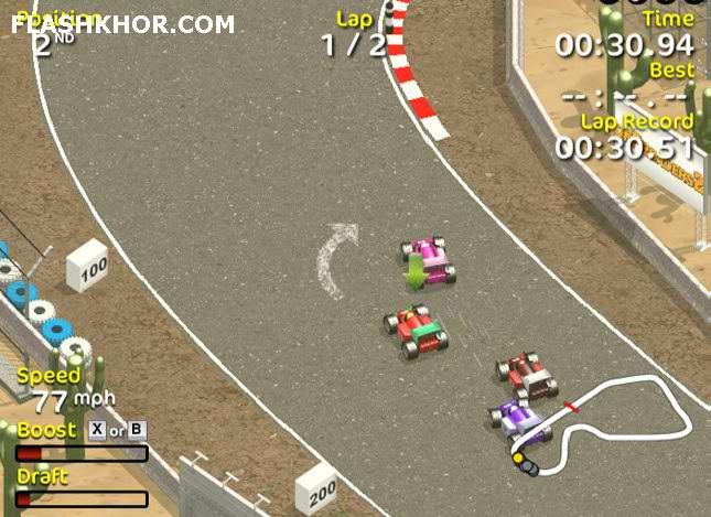بازی آنلاین مسابقات فرمول یک گرند پریکس 2 - ماشین سواری فراری فلش