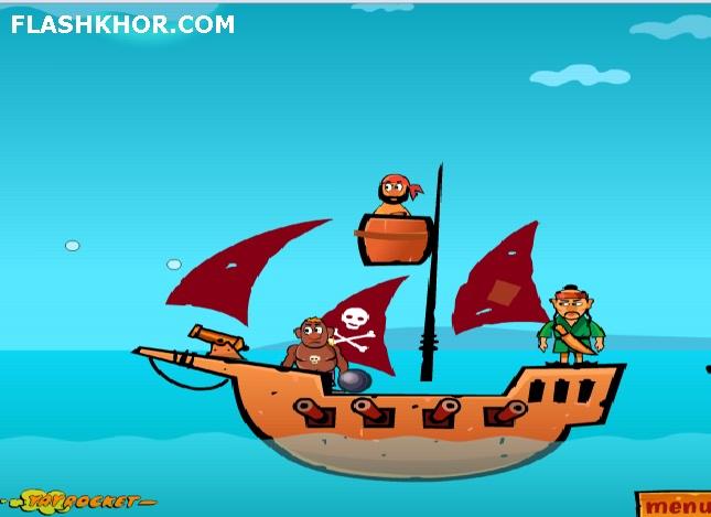بازی آنلاین دزدان دریایی فوق العاده - تیر اندازی فیزیک فلش