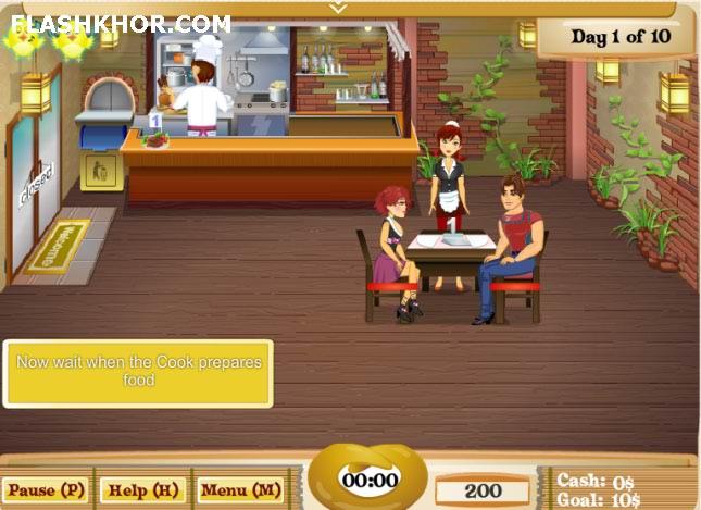 بازی آنلاین رستوران داری اولین رستوران من - مدیریتی دخترانه فلش