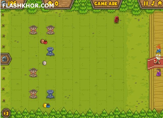 بازی آنلاین دفاع از برج شوالیه های شجاع - استراتژیک فلش