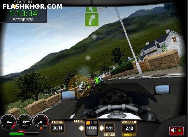 بازی آنلاین موتور سواری مسابقات تی تی - ورزشی فلش