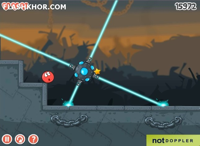 بازی آنلاین توپ قرمز 4 بخش 3 - فیزیک فلش