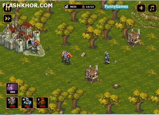 بازی آنلاین استراتژیک حمله سلطنتی - جنگی فلش