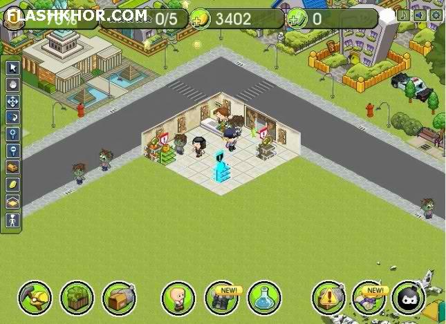 بازی آنلاین استراتژیک فروشگاه زامبی ها - zombie فلش