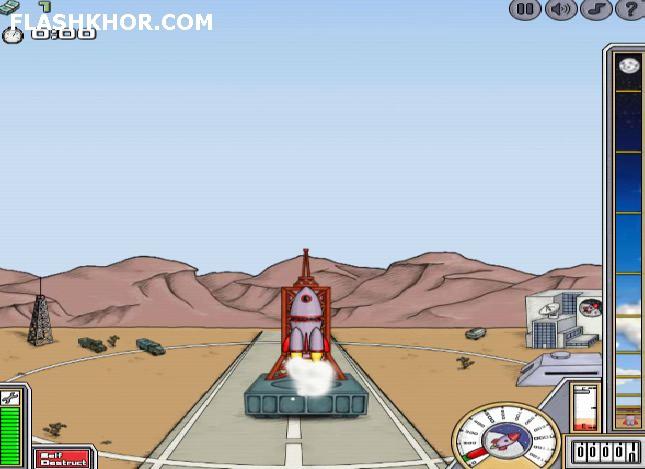 بازی آنلاین پرتاپ فضا پیما 2 - فضایی فلش