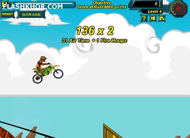 بازی آنلاین موتور سواری حرکات نمایشی خطرناک 6 فلش