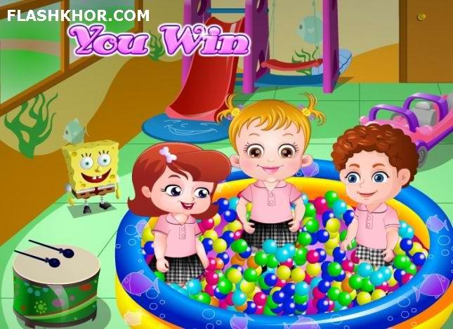 بازی آنلاین بچه داری هیزل کوچولو در مهد کودک - دخترانه فلش