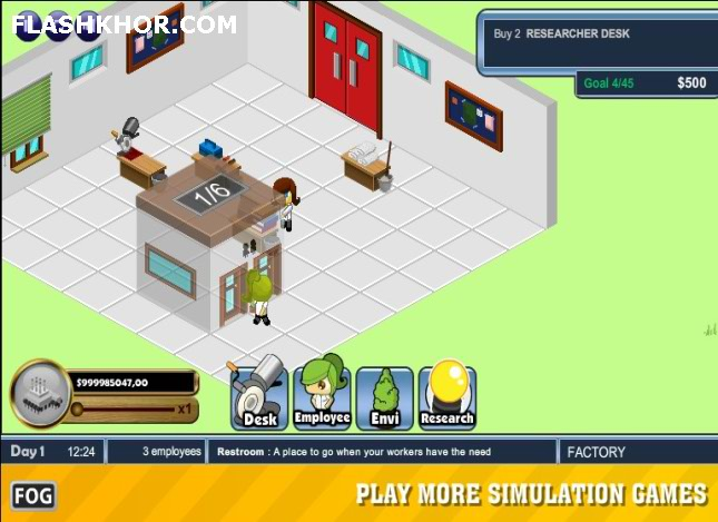 بازی آنلاین استراتژیک مدیریتی پادشاهی کارخانه داری فلش
