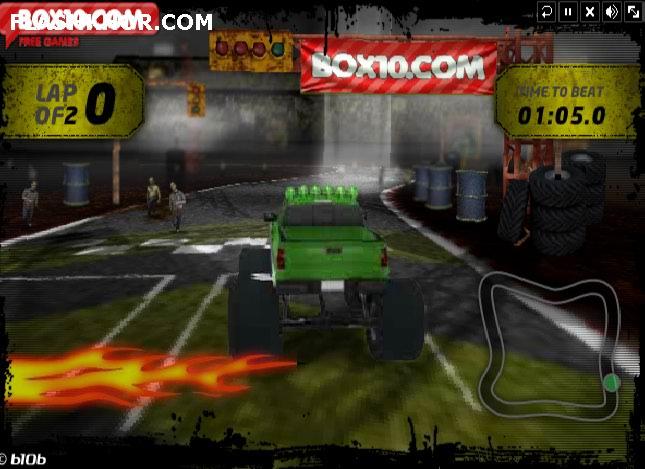 بازی آنلاین زامبی ماشین کشتار - ماشین سواری فلش