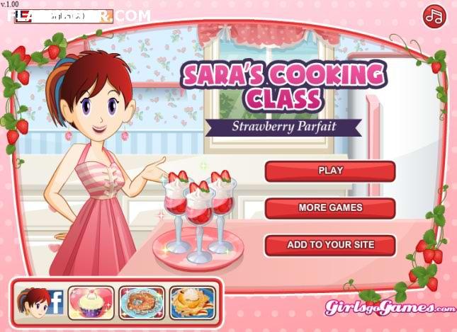 بازی آنلاین آشپزی سارا پافی توت فرنگی - دخترانه فلش