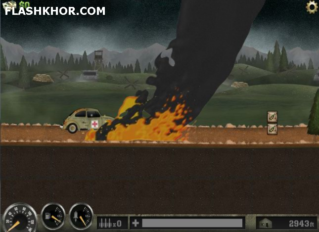 بازی آنلاین ماشین سواری آمبولانس میدان جنگ فلش