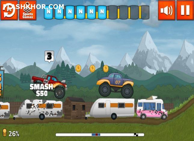 بازی آنلاین کامیون سواری مسابقات بزرگ کامیونیسمی - ورزشی فلش