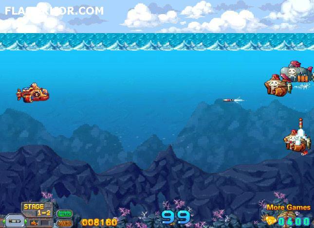 بازی آنلاین جنگ زیر دریایی ها فلش