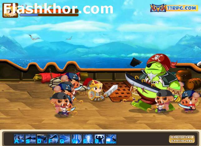 بازی آنلاین شوالیه شمشیر زن - شمشیر زنی فلش