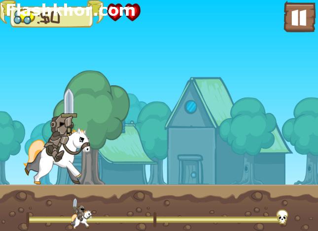 بازی آنلاین شوالیه سوار پادشاه - اکشن فلش