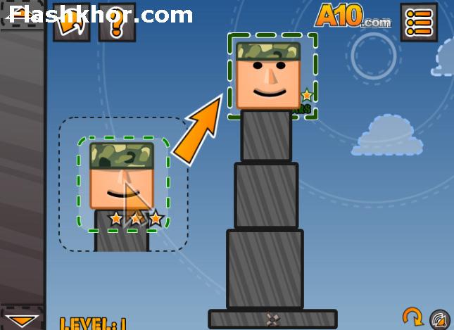 بازی آنلاین فکری معمار ارتش - فیزیک فلش