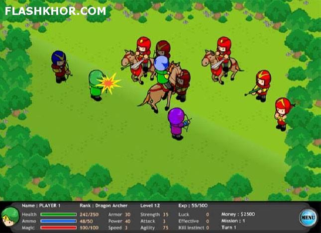بازی آنلاین دفاع استراتژیک - استراتژی فلش