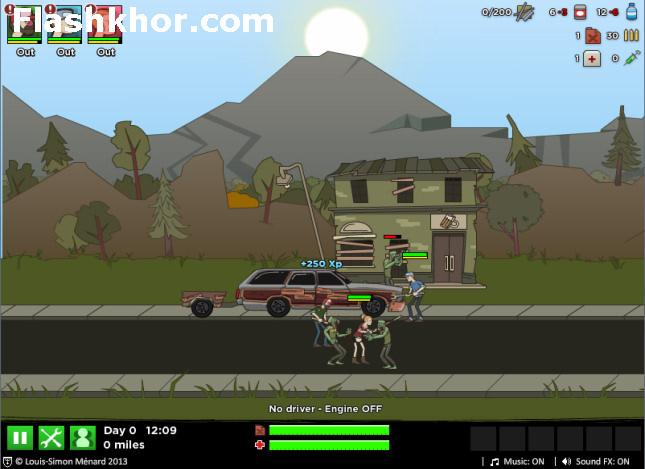 بازی آنلاین زامبی جاده های وحشت - اکشن فلش