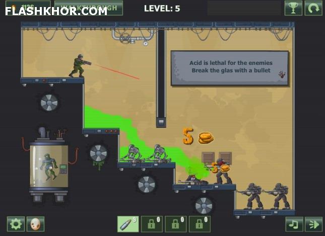 بازی آنلاین اکشن آزمایشگاه مرگبار فلش