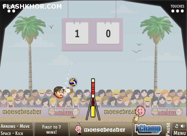 بازی آنلاین والیبال بین کله ها - ورزشی فلش