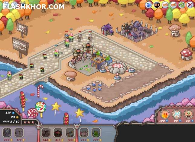 بازی آنلاین دفاع از برج شیاطین بر علیه پریان فلش