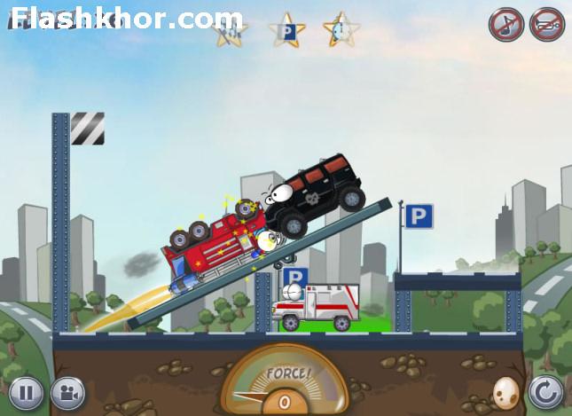 بازی آنلاین تصادف با ماشین ها 3 - اکشن فلش