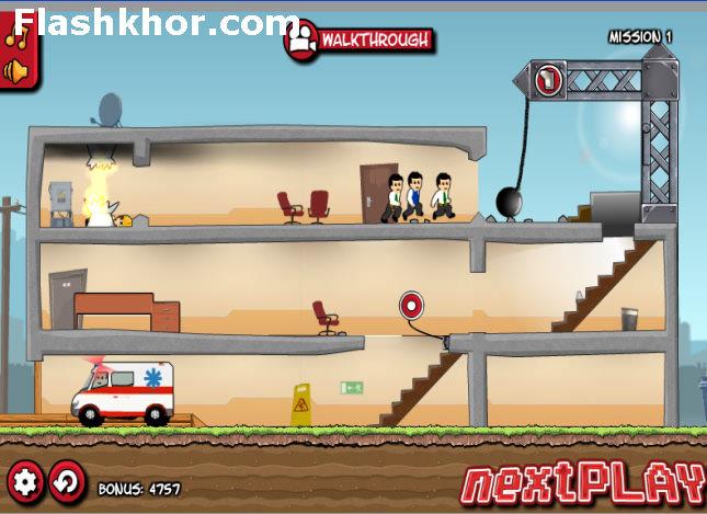 بازی آنلاین گروه نجات - آمبولانس اکشن فلش