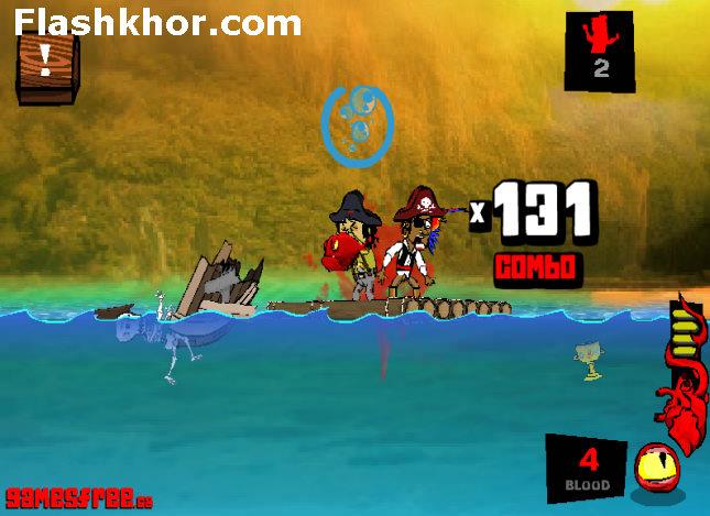 بازی آنلاین ماهی خشن و دزدان دریایی - اکشن فلش