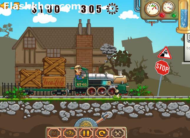بازی آنلاین طراح پل راه آهن - فیزیک فکری فلش