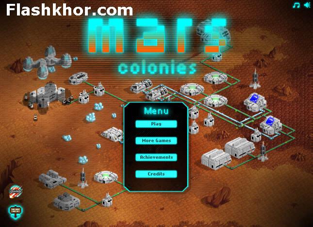 بازی آنلاین استراتژیک مستعمرات مریخ - فضایی فلش