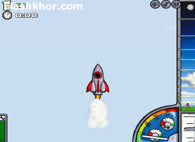 بازی آنلاین پرتاپ فضا پیما 1 فضایی فلش