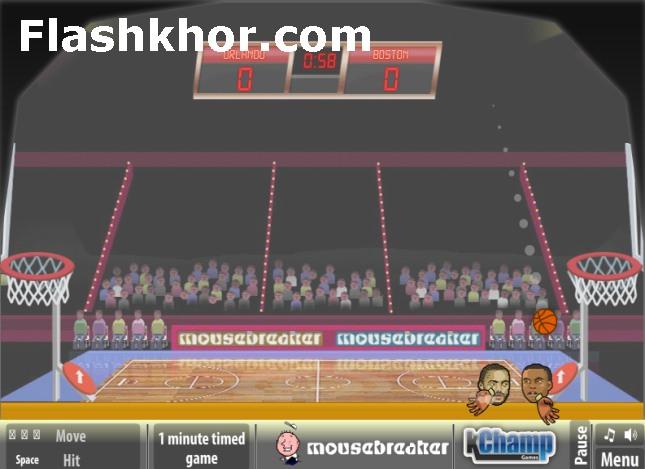 بازی آنلاین بسکتبال بین کله ها جام قهرمانان - ورزشی فلش