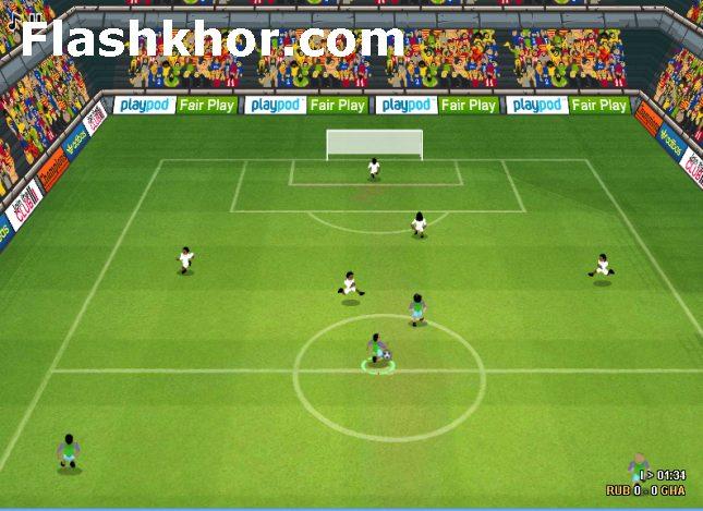 بازی آنلاین فوتبال جام جهانی 2014 برزیل - ورزشی فلش