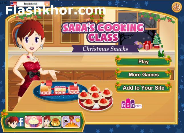 بازی آنلاین آشپزی اسنک کریسمس - دخترانه فلش