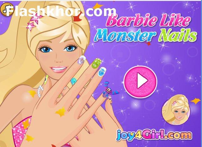 بازی آنلاین باربی آرایش ناخن مدل هیولا - دخترانه فلش