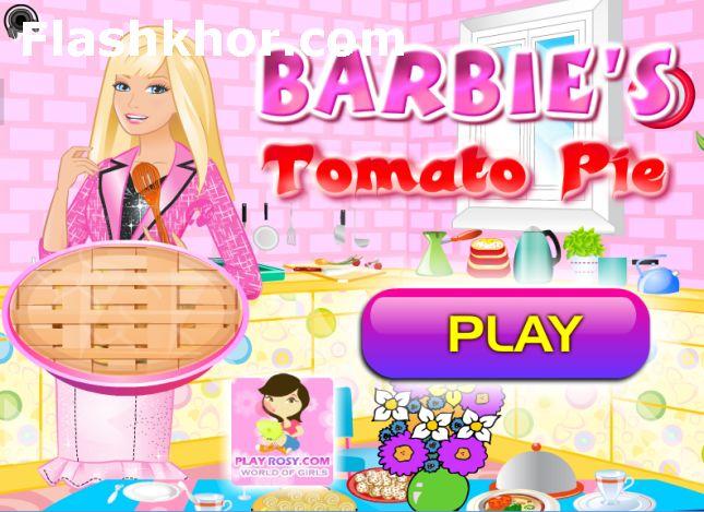 بازی آنلاین باربی آشپزی پای سیب زمینی - دخترانه فلش