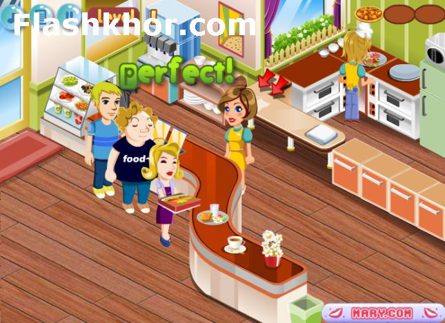 بازی آنلاین مدیریتی فروشگاه پیتزای من - دخترانه فلش