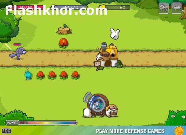بازی آنلاین گرگ بد بزرگ - دفاع از برج استراتژیک فلش