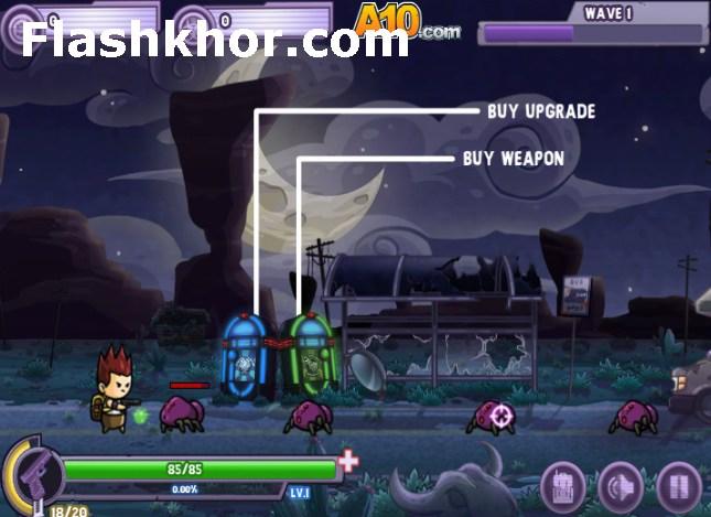بازی آنلاین یورش مرگبار زامبی ها - تیراندازی فلش