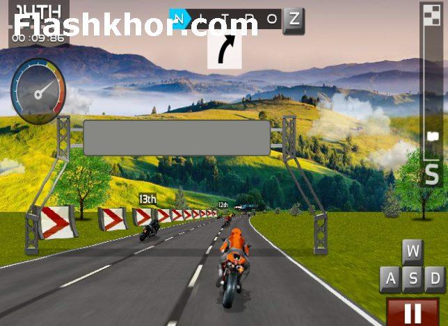 بازی آنلاین موتور سواری راننده فوق العاده - ورزشی فلش