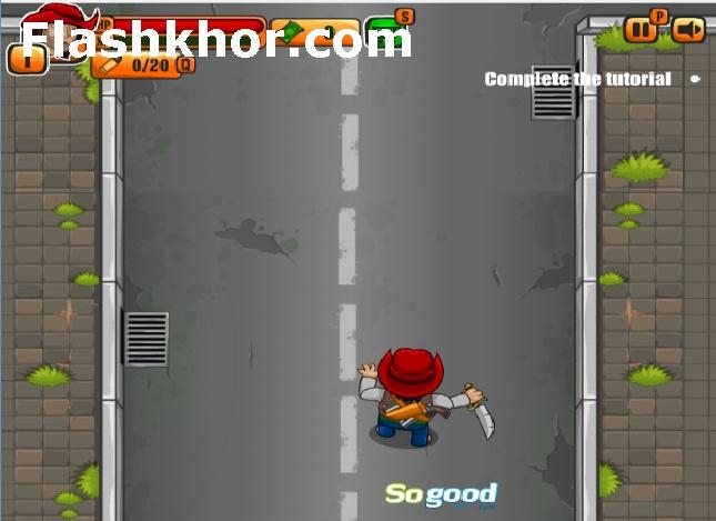 بازی آنلاین زامبی خیابان حمام خون - اکشن فلش