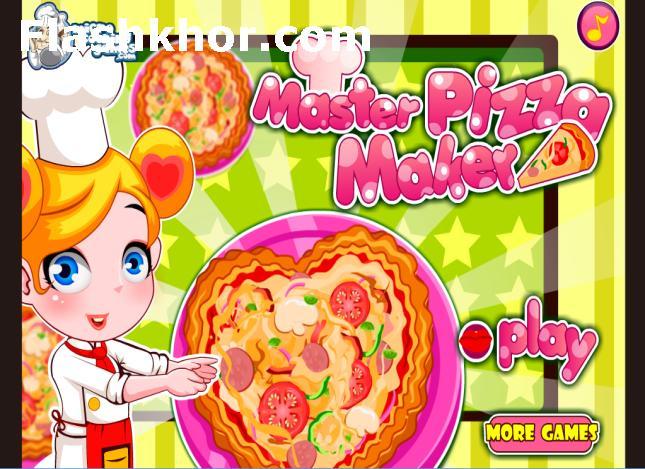 بازی آنلاین آشپزی استاد پخت پیتزا - دخترانه فلش