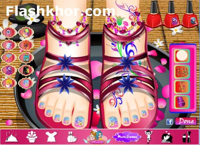 بازی آنلاین طراحی ناخن اسپا - دخترانه فلش