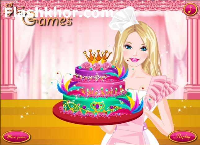 بازی آنلاین آشپزی باربی کیک الماسی - دخترانه فلش